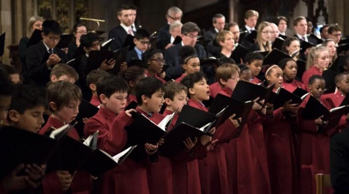 Whitgift Chamber Choir performing at Croydon Minster
